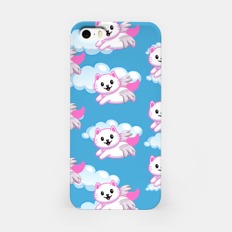Cute White Cat Pink Wings Animal Lovers Pet Owner iPhone Case thumbnail image