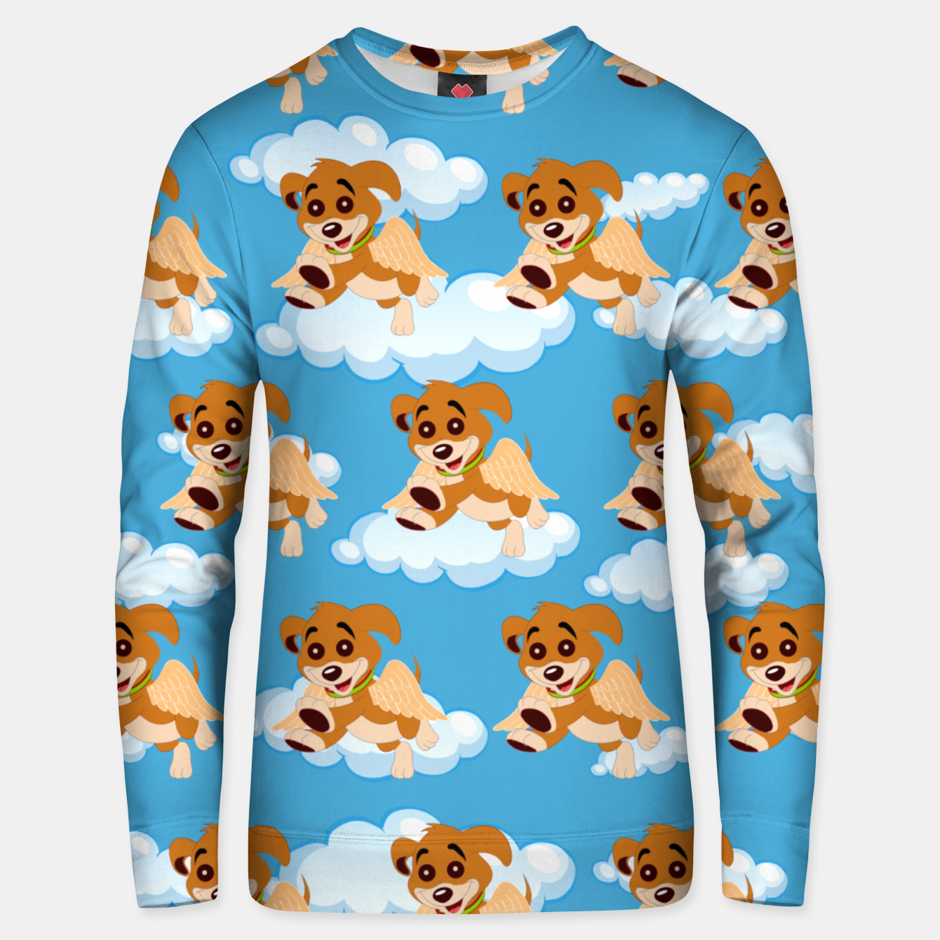 Image of Dog Angel Cute Puppy Animal Lover Cartoon Pet Owner Unisex sweater - Live Heroes