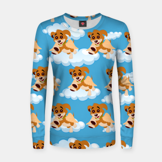 Thumbnail image of Dog Angel Cute Puppy Animal Lover Cartoon Pet Owner Women sweater, Live Heroes