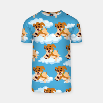 Thumbnail image of Dog Angel Cute Puppy Animal Lover Cartoon Pet Owner T-shirt, Live Heroes