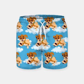 Thumbnail image of Dog Angel Cute Puppy Animal Lover Cartoon Pet Owner Swim Shorts, Live Heroes