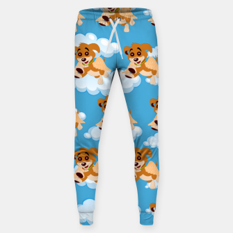 Thumbnail image of Dog Angel Cute Puppy Animal Lover Cartoon Pet Owner Sweatpants, Live Heroes