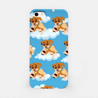 Thumbnail image of Dog Angel Cute Puppy Animal Lover Cartoon Pet Owner iPhone Case, Live Heroes