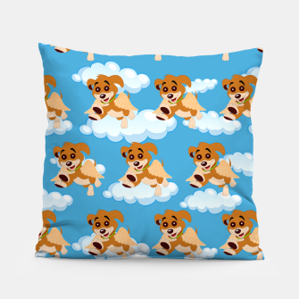 Thumbnail image of Dog Angel Cute Puppy Animal Lover Cartoon Pet Owner Pillow, Live Heroes