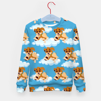Thumbnail image of Dog Angel Cute Puppy Animal Lover Cartoon Pet Owner Kid's sweater, Live Heroes