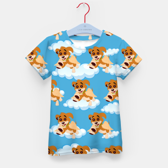 Thumbnail image of Dog Angel Cute Puppy Animal Lover Cartoon Pet Owner Kid's t-shirt, Live Heroes