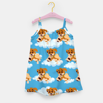 Thumbnail image of Dog Angel Cute Puppy Animal Lover Cartoon Pet Owner Girl's dress, Live Heroes
