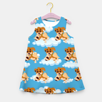Thumbnail image of Dog Angel Cute Puppy Animal Lover Cartoon Pet Owner Girl's summer dress, Live Heroes