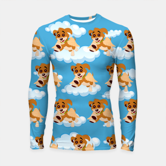 Thumbnail image of Dog Angel Cute Puppy Animal Lover Cartoon Pet Owner Longsleeve rashguard , Live Heroes