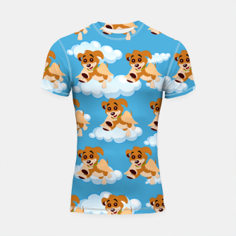 Thumbnail image of Dog Angel Cute Puppy Animal Lover Cartoon Pet Owner Shortsleeve rashguard, Live Heroes