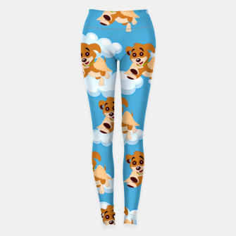 Thumbnail image of Dog Angel Cute Puppy Animal Lover Cartoon Pet Owner Leggings, Live Heroes