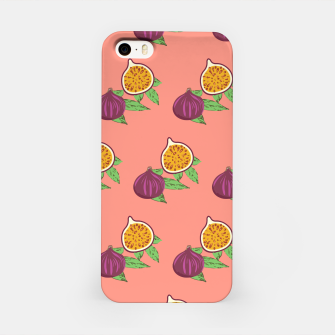 Thumbnail image of Common Fig Green Leaves Exotic Fruit Mediterranean Food iPhone Case, Live Heroes