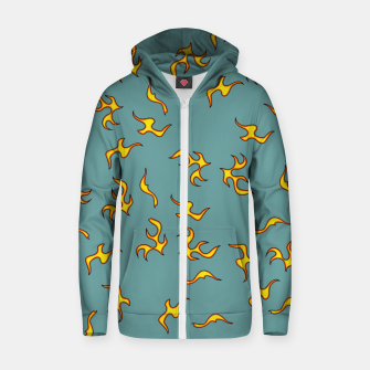 flames pattern Zip up hoodie thumbnail image