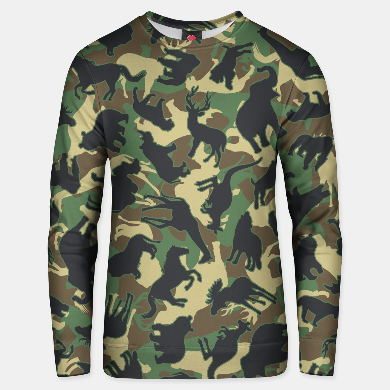 Image of Animals Wild Animal Camo Forest Woodland Camouflage Pattern Unisex sweater - Live Heroes