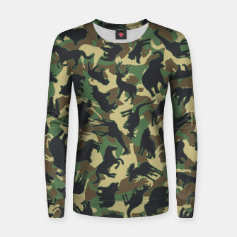 Miniature de image de Animals Wild Animal Camo Forest Woodland Camouflage Pattern Women sweater, Live Heroes