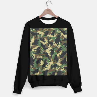 Miniature de image de Animals Wild Animal Camo Forest Woodland Camouflage Pattern Sweater regular, Live Heroes