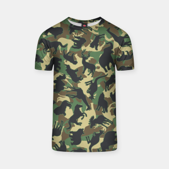 Miniature de image de Animals Wild Animal Camo Forest Woodland Camouflage Pattern T-shirt, Live Heroes