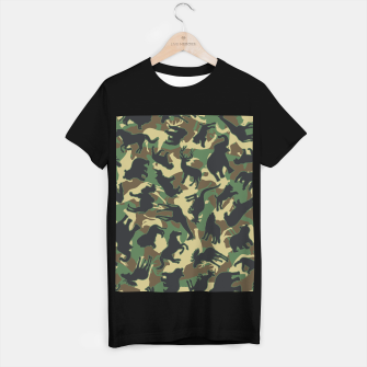 Miniature de image de Animals Wild Animal Camo Forest Woodland Camouflage Pattern T-shirt regular, Live Heroes