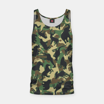 Miniature de image de Animals Wild Animal Camo Forest Woodland Camouflage Pattern Tank Top, Live Heroes