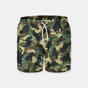 Miniature de image de Animals Wild Animal Camo Forest Woodland Camouflage Pattern Swim Shorts, Live Heroes