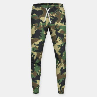 Miniature de image de Animals Wild Animal Camo Forest Woodland Camouflage Pattern Sweatpants, Live Heroes