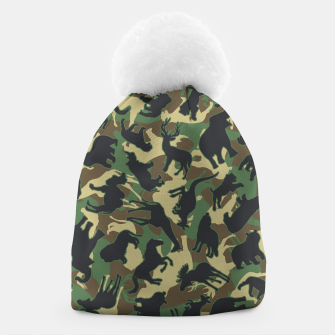 Thumbnail image of Animals Wild Animal Camo Forest Woodland Camouflage Pattern Beanie, Live Heroes