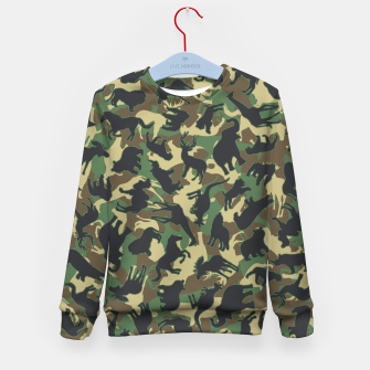 Miniature de image de Animals Wild Animal Camo Forest Woodland Camouflage Pattern Kid's sweater, Live Heroes