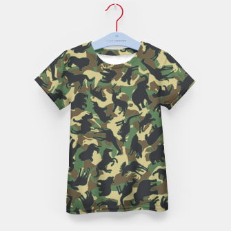 Thumbnail image of Animals Wild Animal Camo Forest Woodland Camouflage Pattern Kid's t-shirt, Live Heroes
