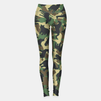 Thumbnail image of Animals Wild Animal Camo Forest Woodland Camouflage Pattern Leggings, Live Heroes