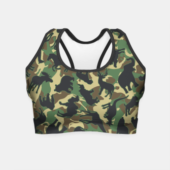 Thumbnail image of Animals Wild Animal Camo Forest Woodland Camouflage Pattern Crop Top, Live Heroes