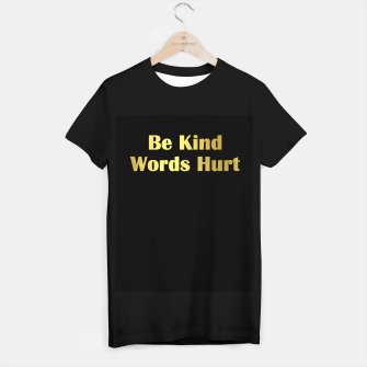 Miniature de image de Be Kind Words Hurt T-shirt regular, Live Heroes