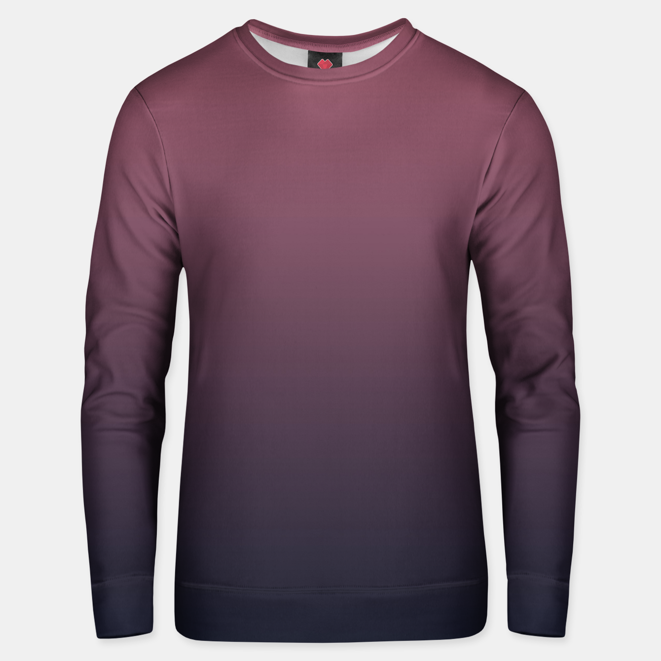 Image of Dark purple black navy duotone gradient ombre stylish color pure soft marsala monochrome Unisex sweater - Live Heroes