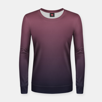 Miniatur Dark purple black navy duotone gradient ombre stylish color pure soft marsala monochrome Women sweater, Live Heroes