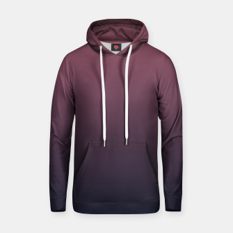 Dark purple black navy duotone gradient ombre stylish color pure soft marsala monochrome Hoodie thumbnail image