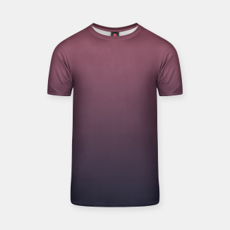 Dark purple black navy duotone gradient ombre stylish color pure soft marsala monochrome T-shirt thumbnail image