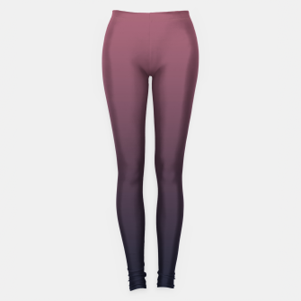 Dark purple black navy duotone gradient ombre stylish color pure soft marsala monochrome Leggings thumbnail image