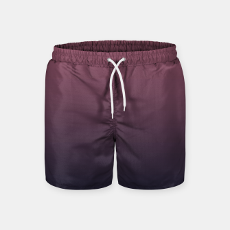Miniaturka Dark purple black navy duotone gradient ombre stylish color pure soft marsala monochrome Swim Shorts, Live Heroes