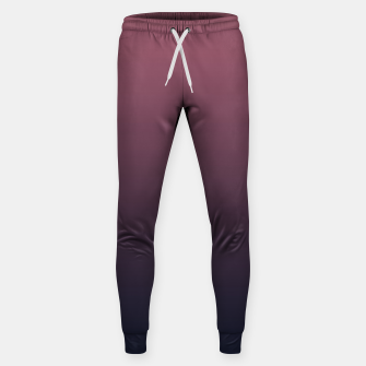 Miniatur Dark purple black navy duotone gradient ombre stylish color pure soft marsala monochrome Sweatpants, Live Heroes