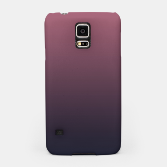 Miniatur Dark purple black navy duotone gradient ombre stylish color pure soft marsala monochrome Samsung Case, Live Heroes