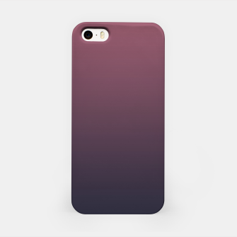 Dark purple black navy duotone gradient ombre stylish color pure soft marsala monochrome iPhone Case thumbnail image