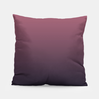 Miniatur Dark purple black navy duotone gradient ombre stylish color pure soft marsala monochrome Pillow, Live Heroes