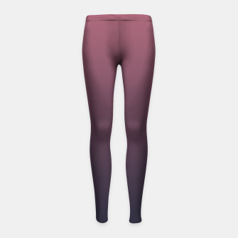 Thumbnail image of Dark purple black navy duotone gradient ombre stylish color pure soft marsala monochrome Girl's leggings, Live Heroes