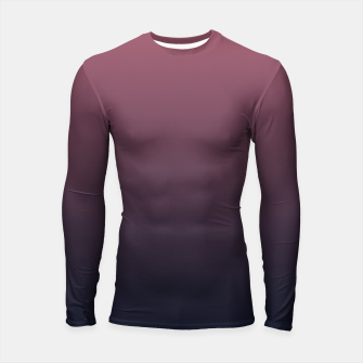 Miniatur Dark purple black navy duotone gradient ombre stylish color pure soft marsala monochrome Longsleeve rashguard , Live Heroes