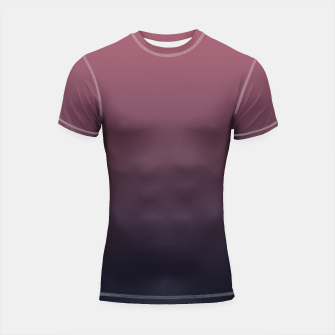 Miniatur Dark purple black navy duotone gradient ombre stylish color pure soft marsala monochrome Shortsleeve rashguard, Live Heroes