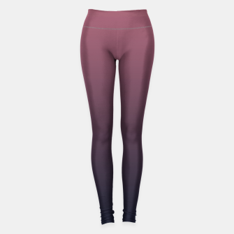 Miniatur Dark purple black navy duotone gradient ombre stylish color pure soft marsala monochrome Leggings, Live Heroes
