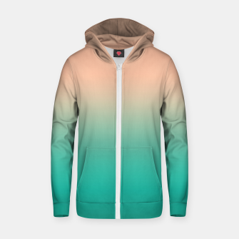 Thumbnail image of Pastel blush coral bottle green duotone gradient ombre summer stylish color pure soft light monochrome Zip up hoodie, Live Heroes