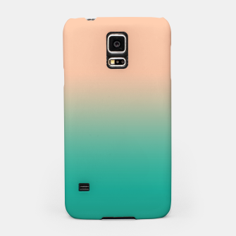 Imagen en miniatura de Pastel blush coral bottle green duotone gradient ombre summer stylish color pure soft light monochrome Samsung Case, Live Heroes