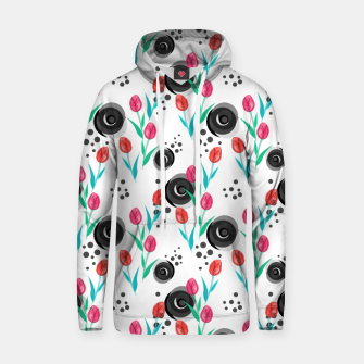 Miniatur Abstract floral pattern tulips. cartoon floral spring summer light pattern cute Hoodie, Live Heroes