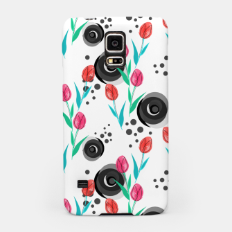 Miniatur Abstract floral pattern tulips. cartoon floral spring summer light pattern cute Samsung Case, Live Heroes