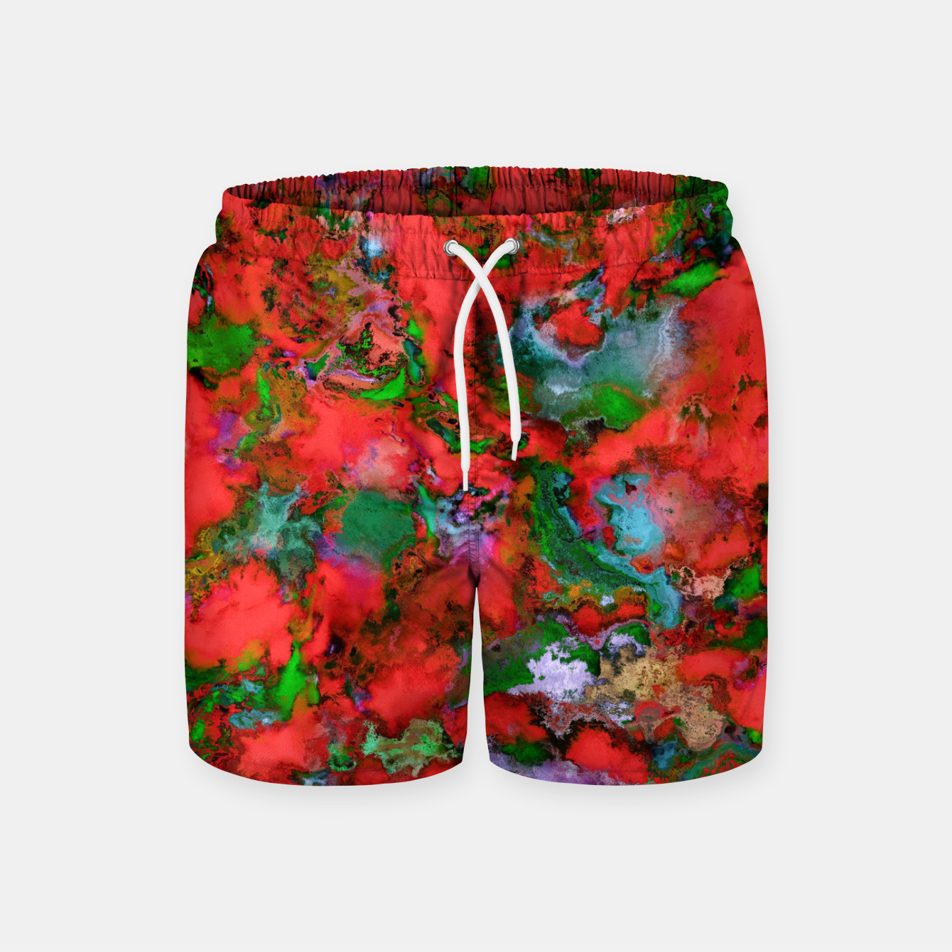 Image of The edge of the red lake Swim Shorts - Live Heroes